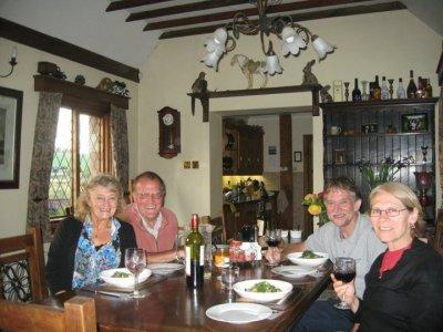 Sally, Brian, Chas and Pat