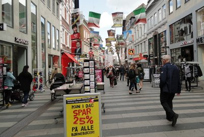 Aarhus walking street .. approximately 2kms through the centre of town
