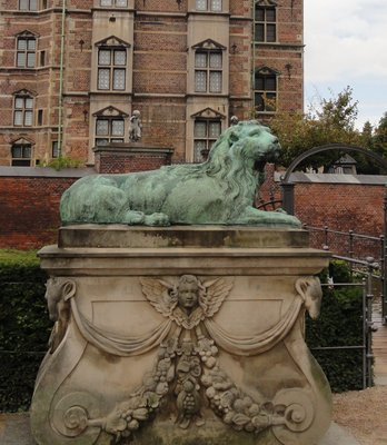 Lion guarding Rosenborg Castle