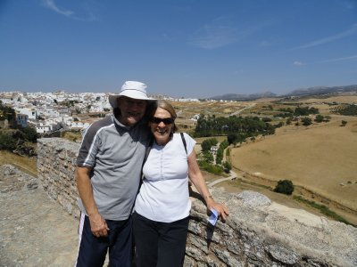 View from the fortress with Pueblos Blancos of Ronda in background