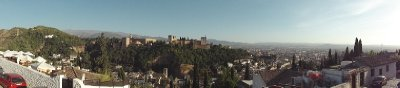 A beautiful pic of Granada looking out from Albaicin towards Alhambra