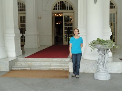 Raffles Hotel entrance