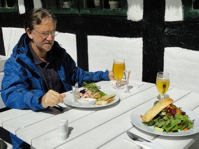 Lunch at the Skovmøllen restaurant