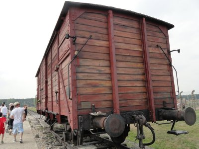 Freight car donated by Lowy family