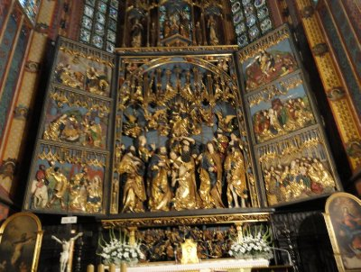 Magnificent 15thC altarpiece, St Mary&#39;s Basilica