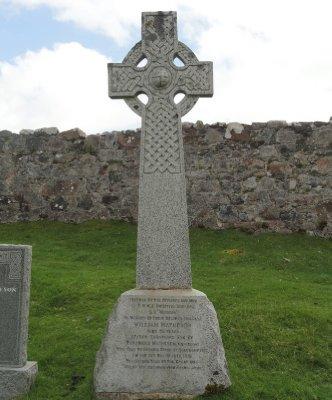 Celtic cross on memorial