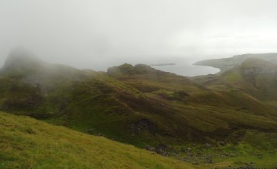 Looking back to Staffin Bay from Quaraing