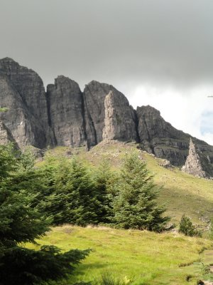 Old Man of Storr and pinnacles of The Storr