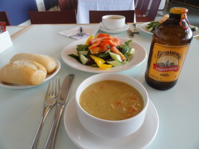 Lunch at the Ptarmigan Restaurant 1097m above sea level