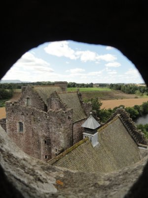 View from the roof through a portal