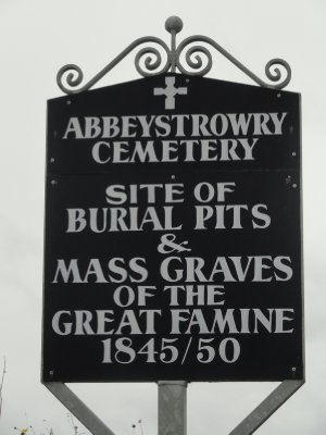 Sign at Abbeystrowry Cemetery