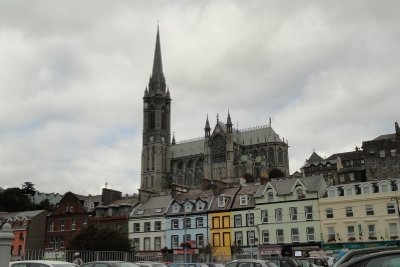 St Colman's Cathedral dominates the town