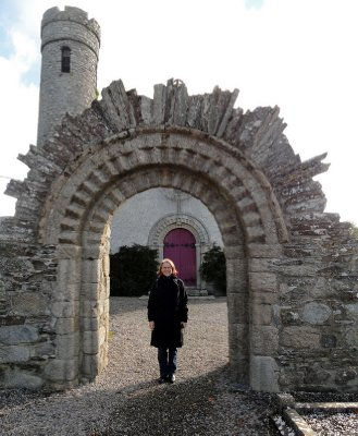 Reconstruction of the beautiful Romanesque archway
