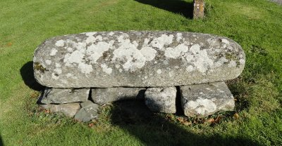 The only example of a hog-back, a Scandinavan-type grave maker, in Ireland