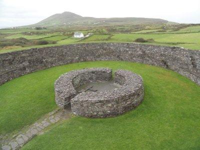 Cahergal Stone Fort interior