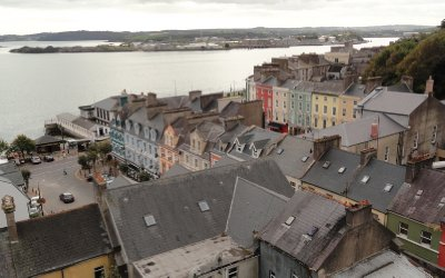 Looking down on Cobh from Cathedral Place