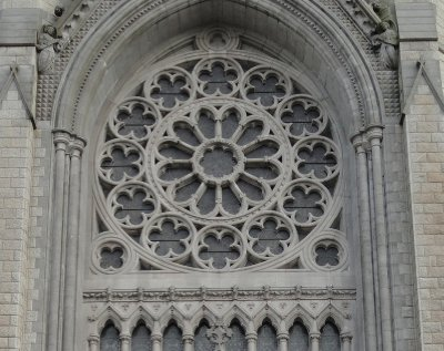 Rose window, St Coleman's Cathedral