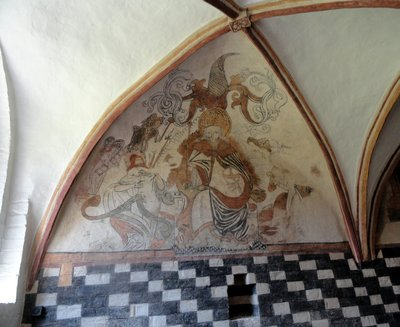 Magnificent frescoes in the Abbey Church