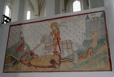 St George and the Dragon frescoe