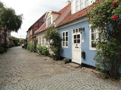 A lovely street  -  Møllestien, with houses dating from the 17th, 18th and 19thC.