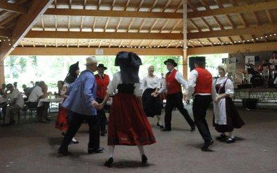 Alsation folk dancing