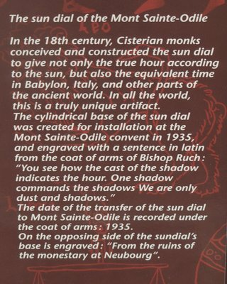 The sun dial of Mont Sainte-Odiel