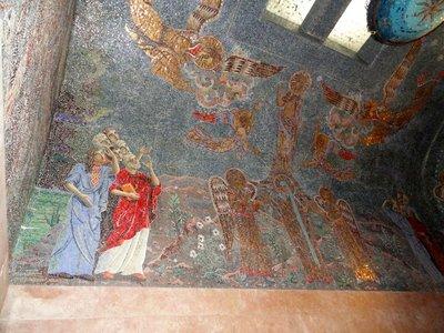 Unbelieve detail in mosaic ceiling