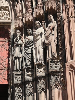 Detail of the entrance to Strasbourg Cathedral