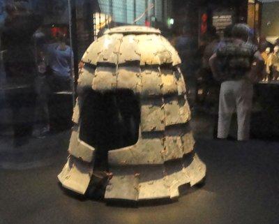 Stone helmet.