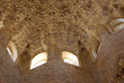 Detail of the roof of the Abencerrajes Hall.   How awesome is that!!