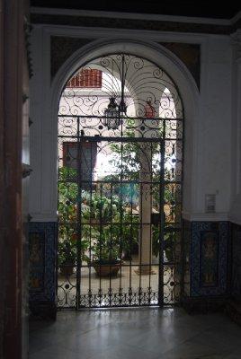 Beautiful internal courtyards with external doors open