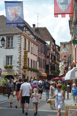 Busy tourist village