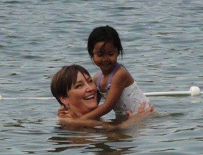 Refreshing swim