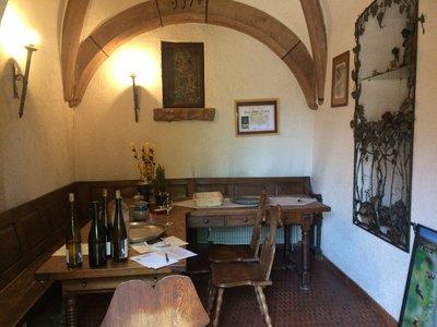 Lovely quaint wine tasting cellar - Ruhlmann Dirringer vineyard