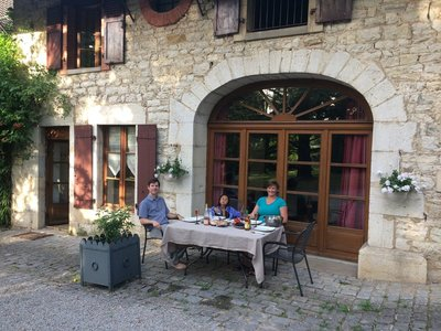 First holiday meal at Gîte des Mouillères