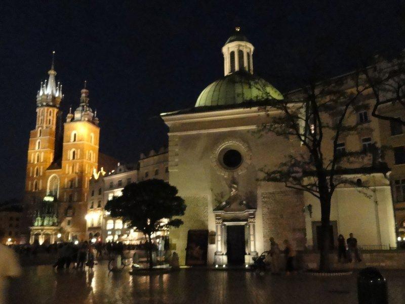 St Adalbert's Church at night