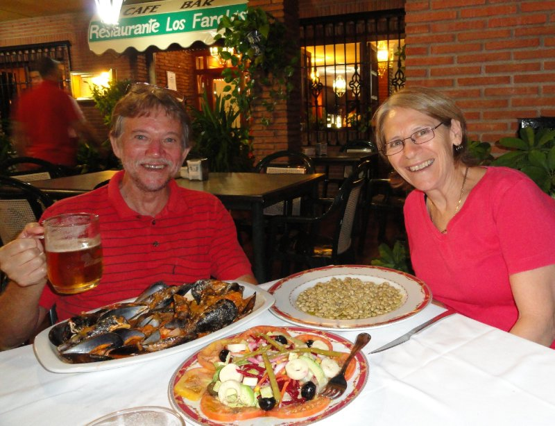 Our first dinner in Granada