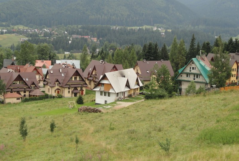 Local houses in 'Zakopane style'