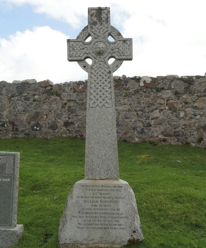 Celtic cross on memorial