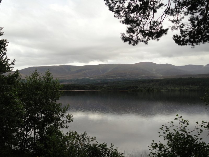 Across Loch Morlich to the Cairngorms.