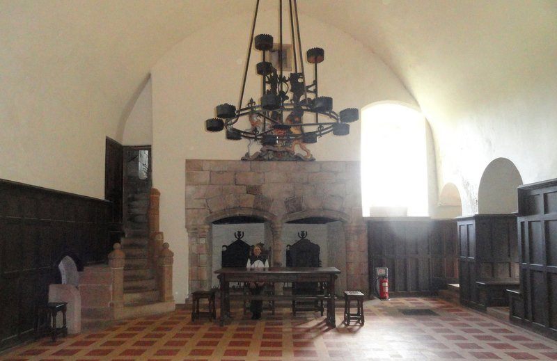 The Earl's Hall with its impressive double fireplace.