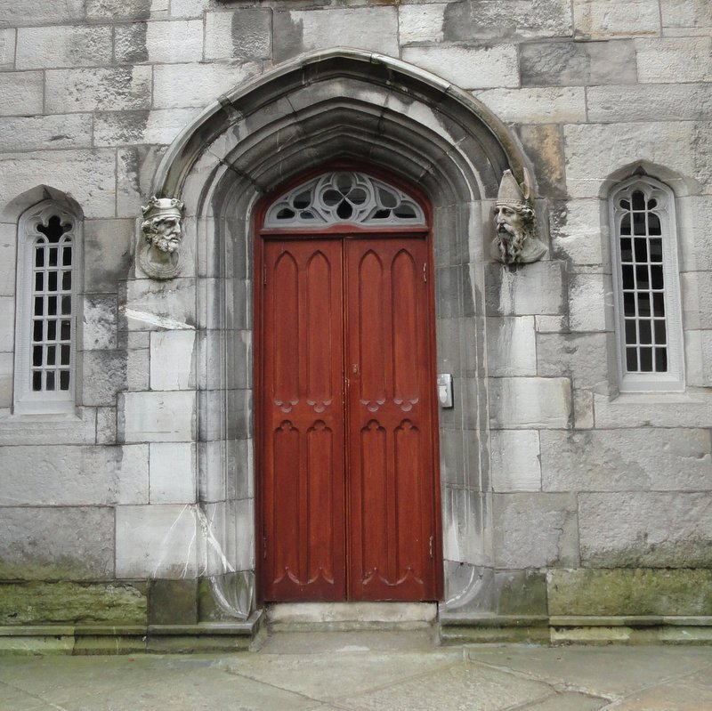 Entrance door to the Chapel Royal, Dublin Castle