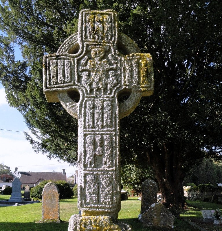 Detail of North cross carvings