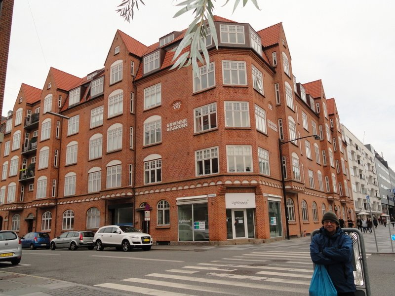Our inner-city apartment building - 30sec. to coffee shop!!    Magasin department store is the building on the far right.