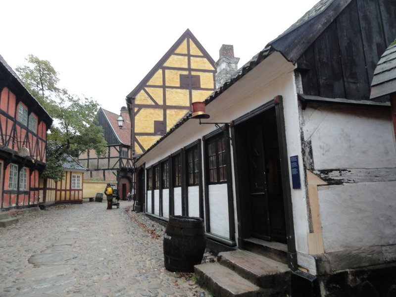 Half-timbered house, circa 1700.  The only surviving building of its kind.