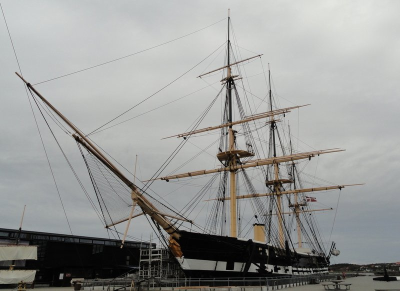 The majestic Frigate Jylland - the world's longest wooden ship