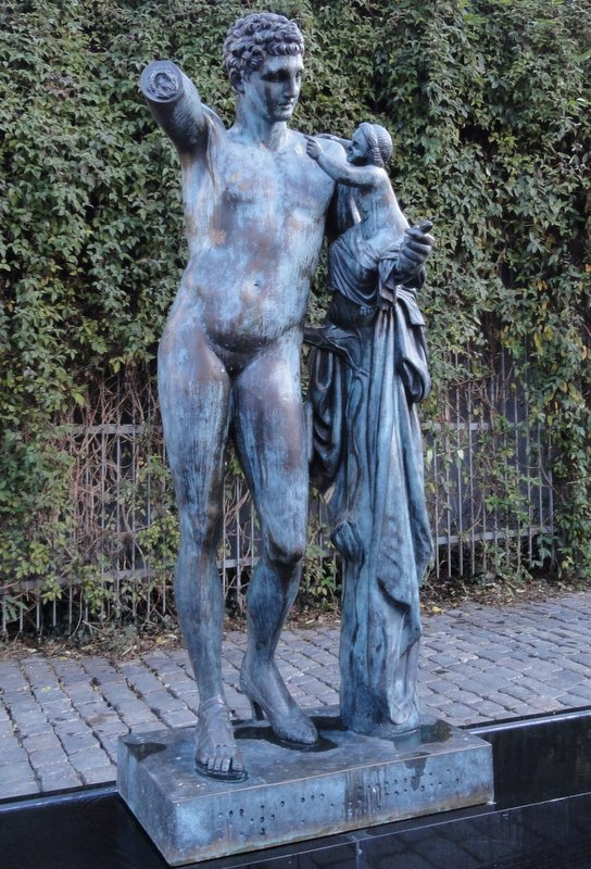 'Madam'  - while this is the title, the sculpture also has confusing male characteristics.  Very interesting.