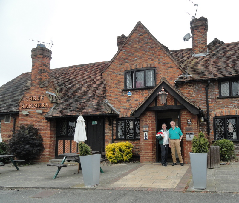 Our first British pub lunch with Roger