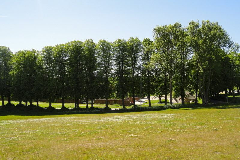 Looking towards the Manor estate