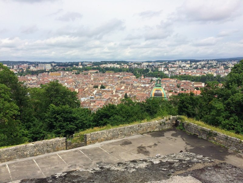 Spectacular view over the old town of Besançon